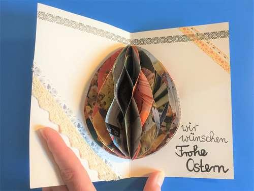Postkarten Gestalten – Wabentechnik