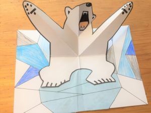 Postkarten – Pop-up Karte Eisbär