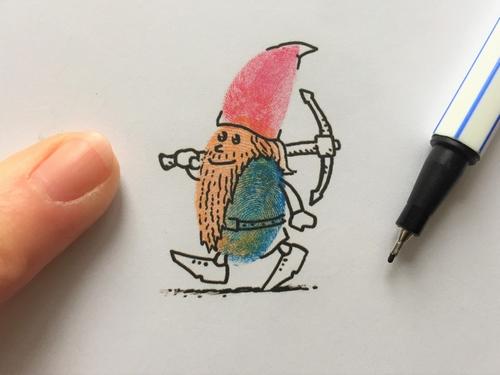 Postkarten – Fingerstempeln