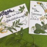 Postkarten – Blumen Pressen